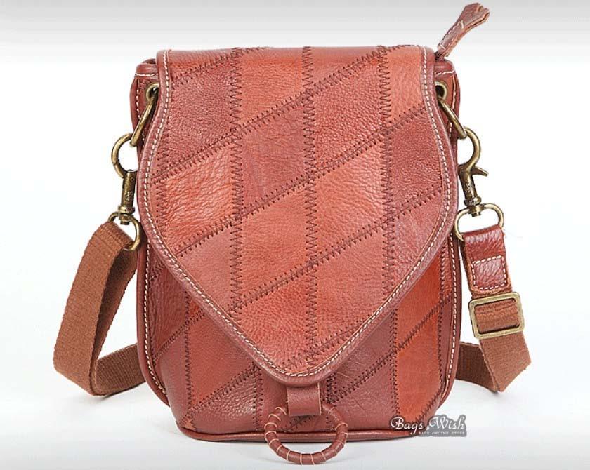 Elegant Leather Messenger Bag Brown Leather Messenger Bag For Women Vintage - BagsWish