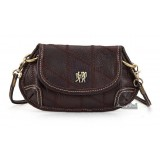 Leather messenger satchel, coffee leather purse