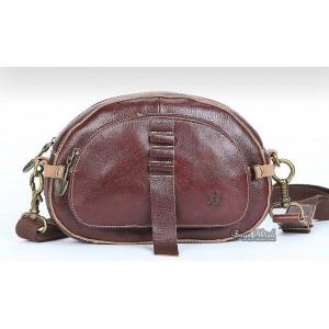 Leather messenger bags for girls, brown leather shoulder bag