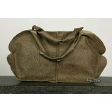 Quality leather handbag, green shoulder leather handbag
