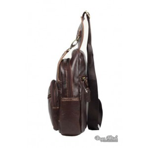 leather side backpack