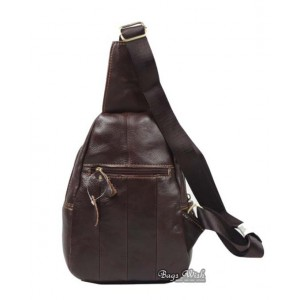 leather single strap back pack