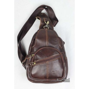 mens Cowhide side backpack
