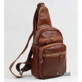Single strap backpack, black one strap backpack for men