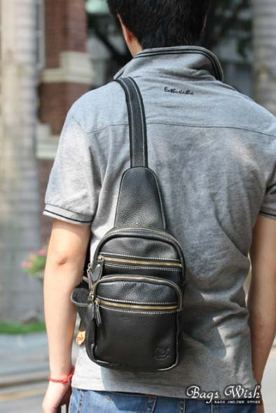 Single Strap Backpack Black One Strap Backpack For Men