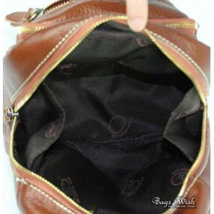leather side strap backpack