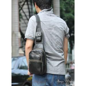 mens black side strap backpack