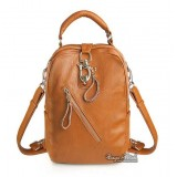 Western leather backpack, purse backpack leather
