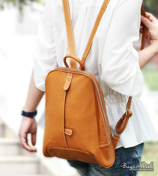 Leather satchel for women, leather backpack women - BagsWish