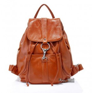 Leather backpack satchel, leather back pack purse