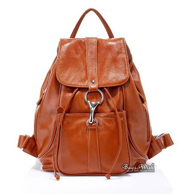 Brown Leather Backpack Satchel