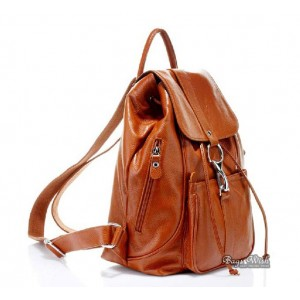 womens Leather backpack satchel