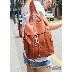 womens leather back pack purse