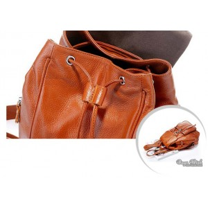 cowhide leather back pack purse