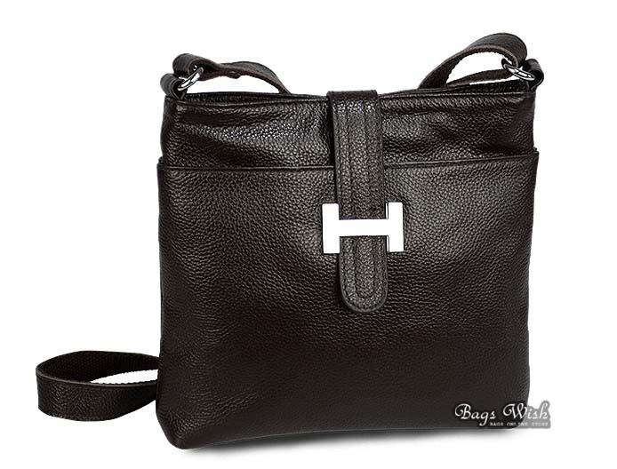 Leather messenger bag women, leather satchel - BagsWish