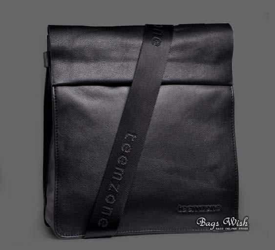 Leather shoulder bag mens black, coffee male messenger bag - BagsWish