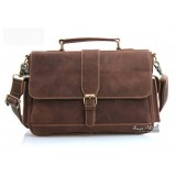 coffee High quality leather briefcase
