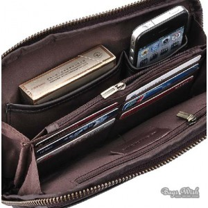 mens leather zip wallet