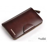 Mens leather zip around wallet