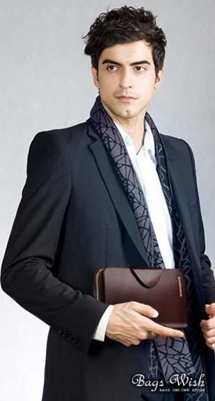 Mens leather zip around wallet, coffee mens luxury wallet - BagsWish