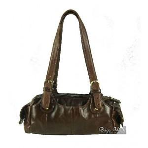 Soft leather handbag coffee