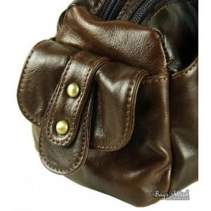 coffee tote leather handbag
