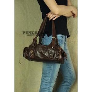 womens coffee tote leather handbag