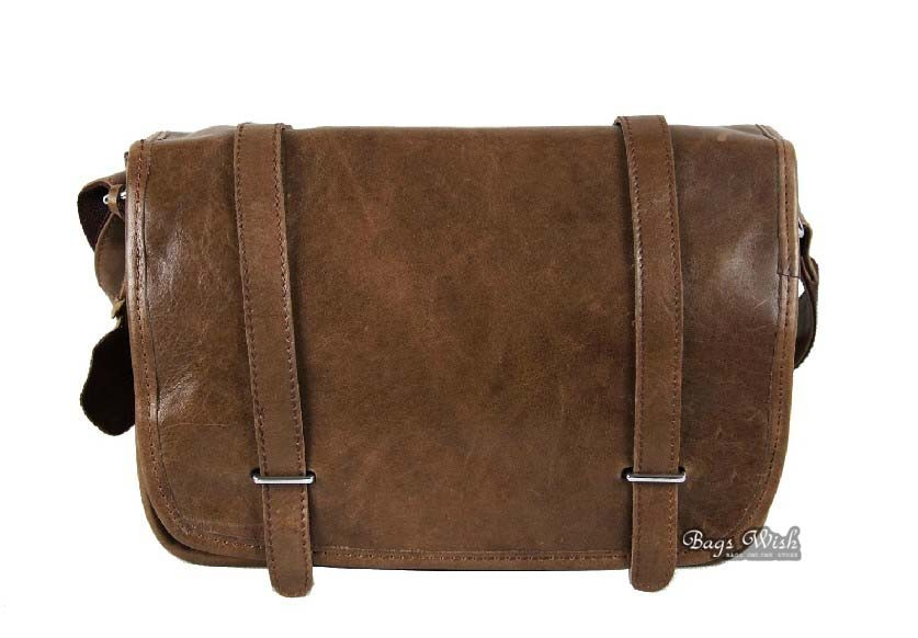 Men leather messenger bag, coffee messenger bag for students ...