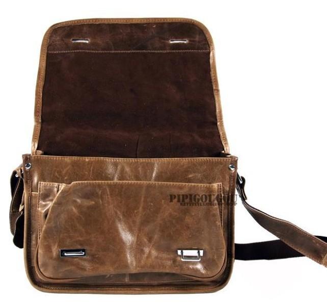 Men leather messenger bag, coffee messenger bag for students ...