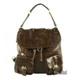 Handbag messenger bag, coffee shoulder backpack