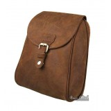 Small leather backpack, vintage brown leather backpack