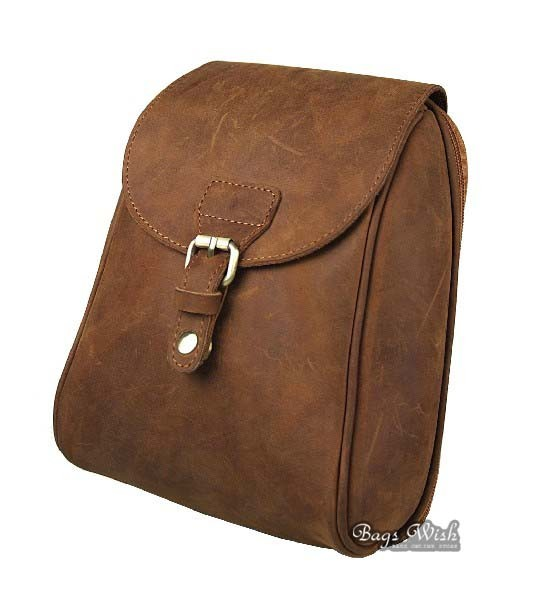 Small leather backpack, vintage brown leather backpack - BagsWish