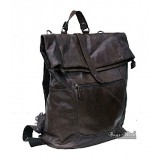 Vintage leather backpack for men brown, black mens leather backpack