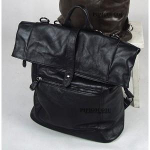 Vintage Leather Backpack For Men Brown Black Mens Leather