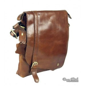 brown leather mens bag
