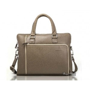 Leather mens briefcase, khaki mens 14 laptop briefcase