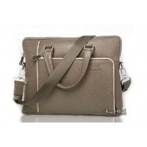 khaki Leather mens briefcase