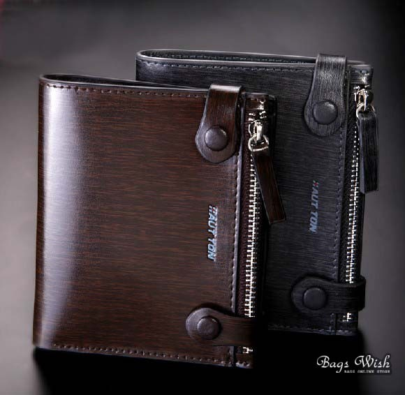 1925a9f8eec1 Small leather wallet for men coffee, grey stylish mens wallet - BagsWish