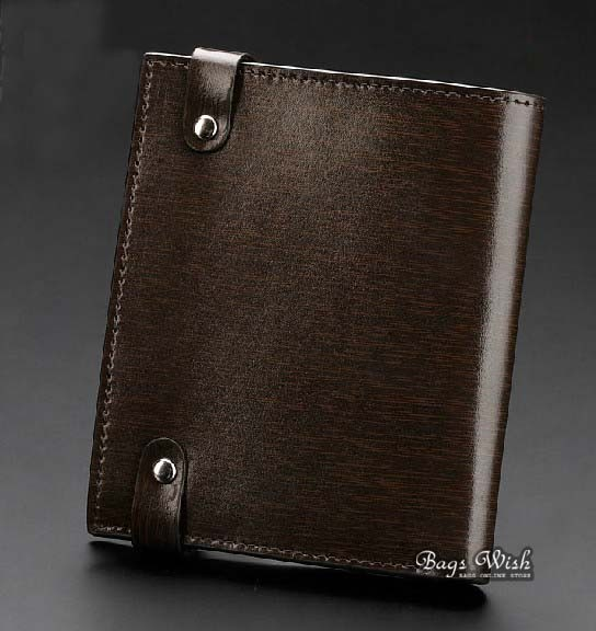 Small Leather Wallet For Men Coffee Grey Stylish Mens