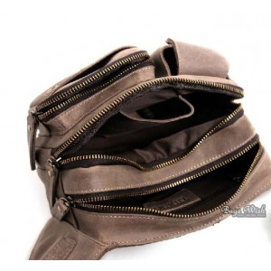 brown Leather waist bags for men
