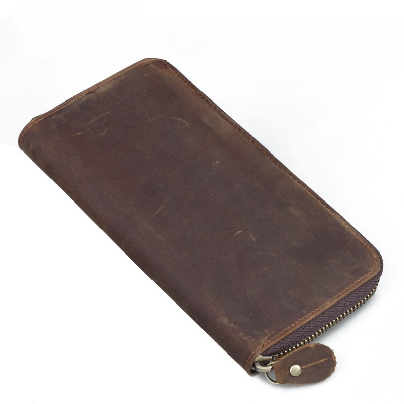 Leather Clutch Wallet Brown Western Leather Wallets