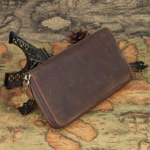 mens Leather clutch wallet