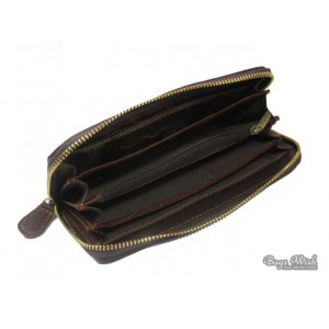 mens brown western leather wallets
