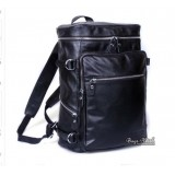 Leather rucksack backpack black, 14 inch notebook backpack