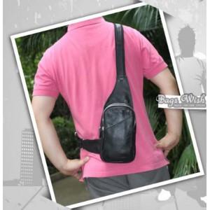 mens black backpack single strap