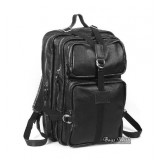 Leather purse backpack black, coffee leather rucksacks for men