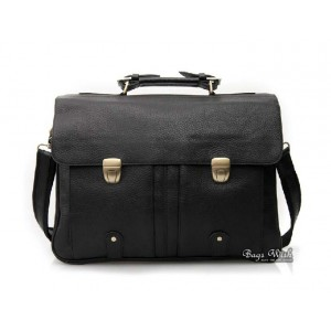 Quality leather briefcase black, mens leather 16 laptop briefcase