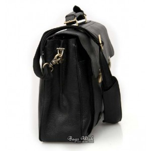 Quality leather briefcase black