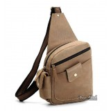 Back pack straps, brown 1 strap backpack