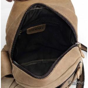 Back Pack Straps Brown 1 Strap Backpack Bagswish